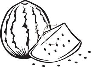 Watermelon clipart black and white Black And Clipart  watermelon%20clipart%20black%20and%20white
