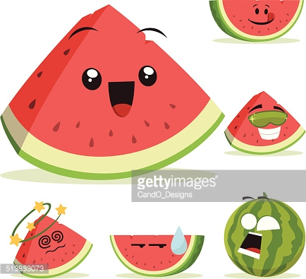 Watermelon clipart kawaii Recreation Google watermelon Google Search