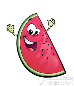 Watermelon clipart happy Watermelon Mascots Tibilis Characters Illustrator