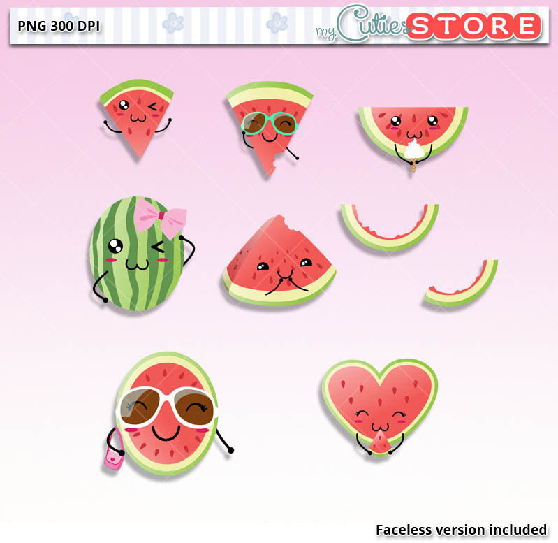 Watermelon clipart kawaii Card great Clipart Planner Doodle