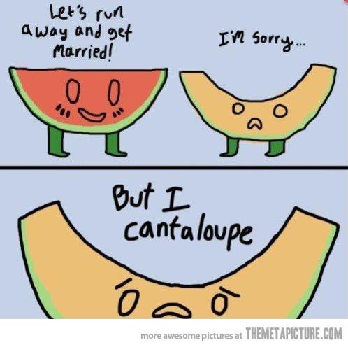 Melon clipart funny Let's run Medicine away…