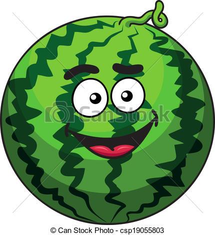 Watermelon clipart happy Cartoon Clipart fruit of Happy