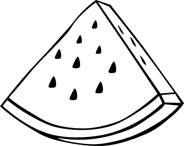Watermelon clipart black and white  this image Melon vector