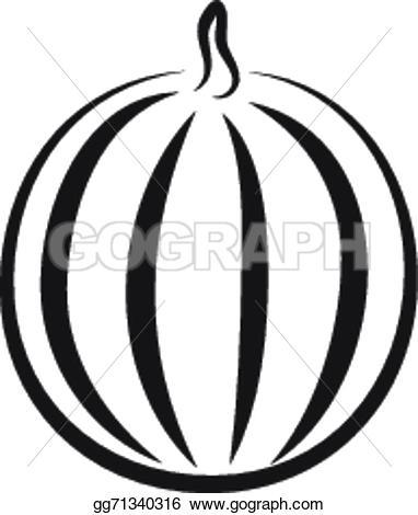 Melon clipart outline Gg71340316 of gg71340316 watermelon Vector