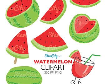 Watermelon clipart individual Watermelon Etsy graphic clipart clipart