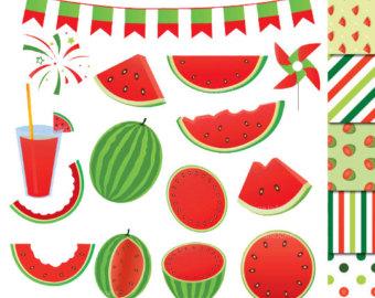 Watermelon clipart individual Art Clipart watermelon party clip