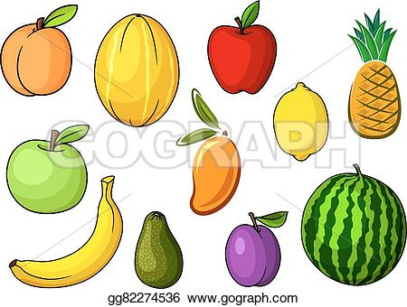 Mango clipart sweet Fruits cartoon for in themes
