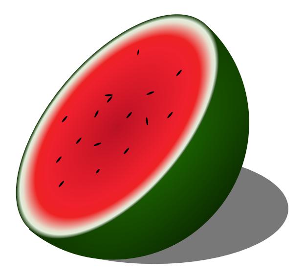 Melon clipart watermelon fruit Public pages Domain Clipart Clipart