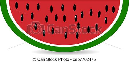 Melon clipart watermelon slice Vector Slice watermelon isolated watermelon
