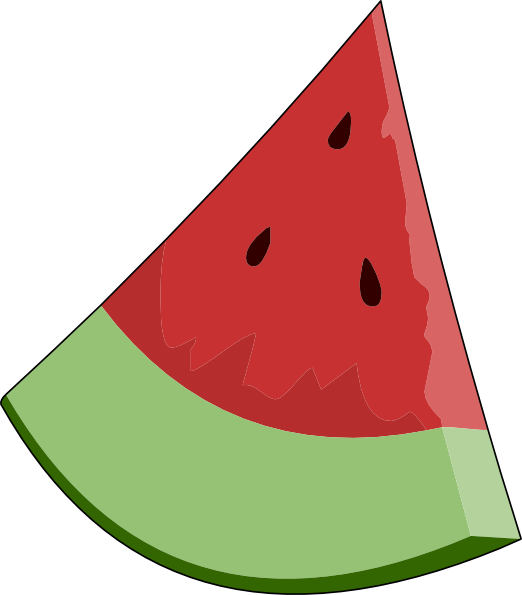 Melon clipart watermelon slice Slice Download image Clker at