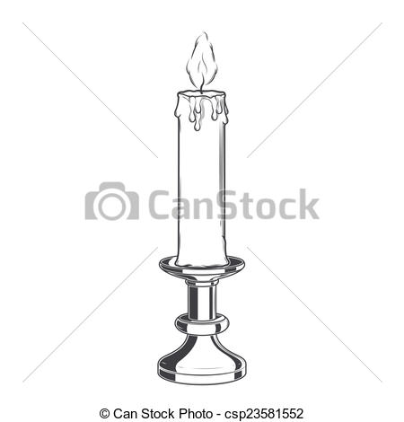 Melting Candle clipart candlestick Vintage of and old candle