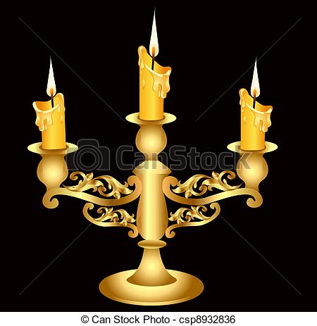 Melting Candle clipart candlestick Candlestick candle of Candle Vector