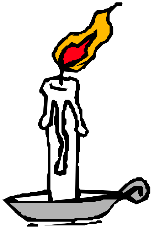Melting Candle clipart candlestick Candle Candle burning Stock candle