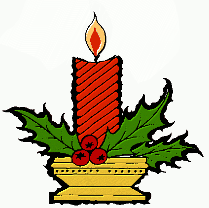 Holley clipart christmas scene Free Christmas Domain Candles Candles