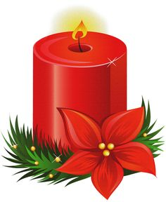 Poinsettia clipart christmas candle Decoupage es rssing Seasonal Mis