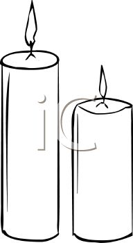 Black & White clipart candle Panda Images And Clipart Free