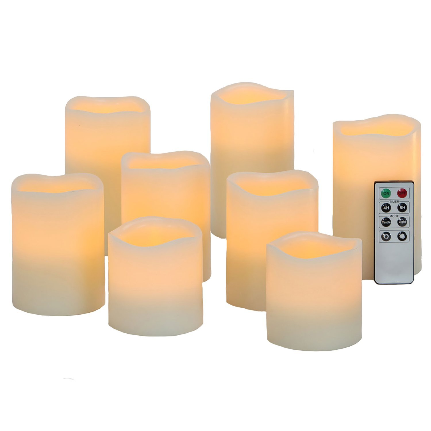 Melting Candle clipart light source Warm Batteries White Amazon Set