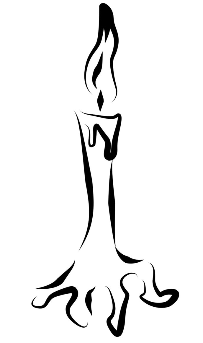 Melting Candle clipart lighted And A designs Tattoo stencils