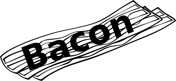 Bacon clipart black and white Bacon%20clipart 20clipart Free Clipart Images