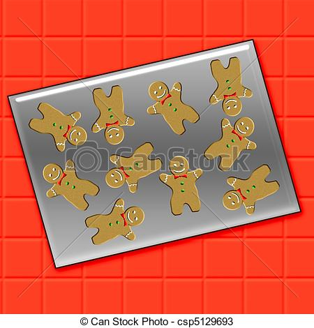 Denmark clipart cookie tray Illustration cookie gingerbread men a