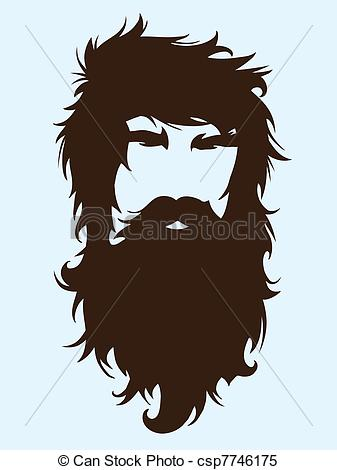 Men clipart beard Bearded Vector long man illustration