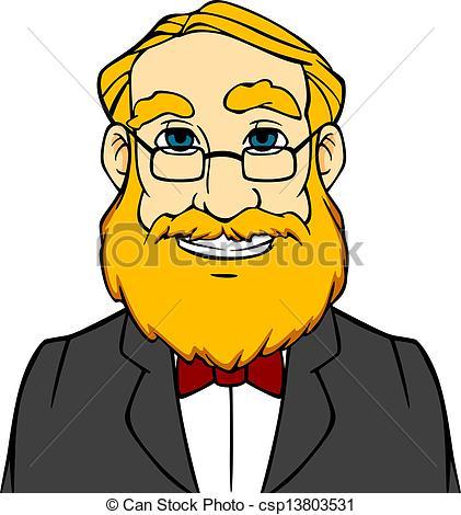 Men clipart beard Style Vectors beard orange of