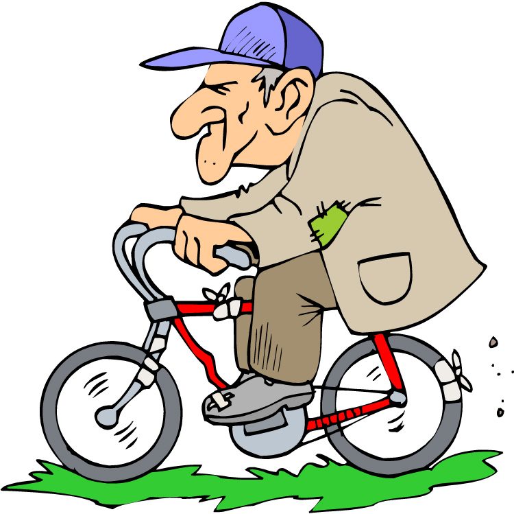 Drawn pushbike animated Motorcycles Old Triumph Man On