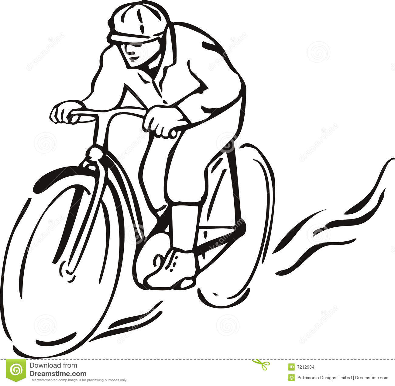 Ride clipart black and white White Bicycle Riding clipart Stock