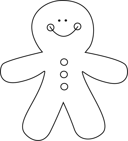 Black & White clipart gingerbread Clip Black  and Gingerbread