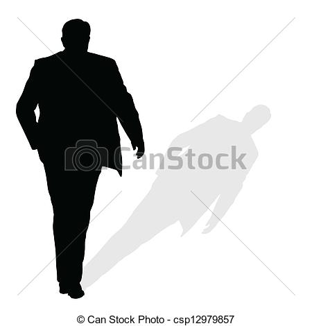 Shaow clipart silhouette With art man vector walking