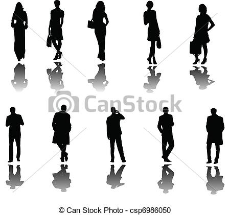 People clipart shadow With illustration business Clipart shadow
