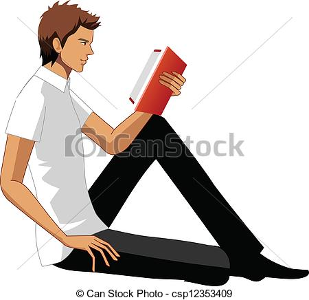 Book clipart side view  man Side man Clipart