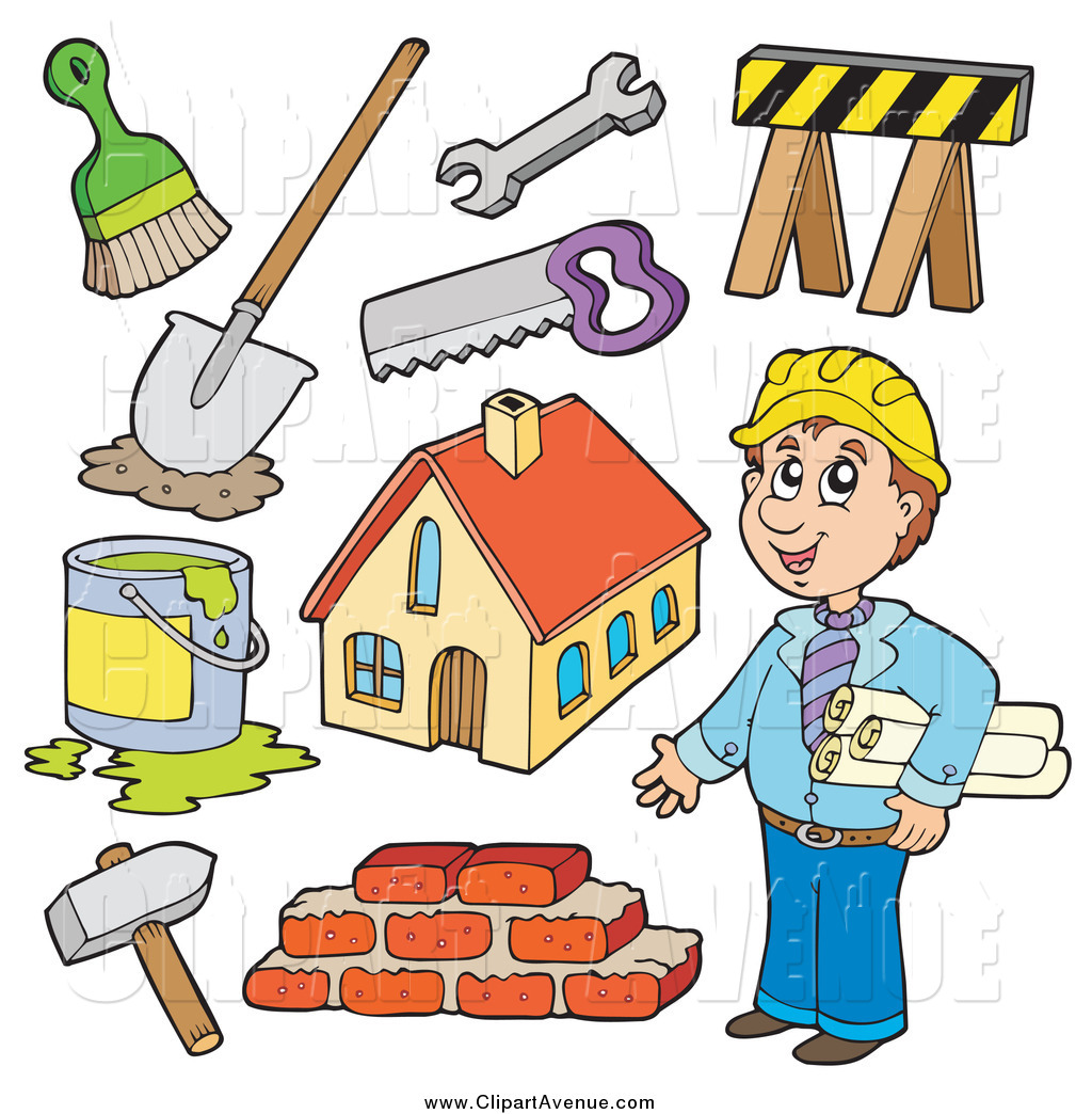 Men clipart builder Avenue Items Contractor  and