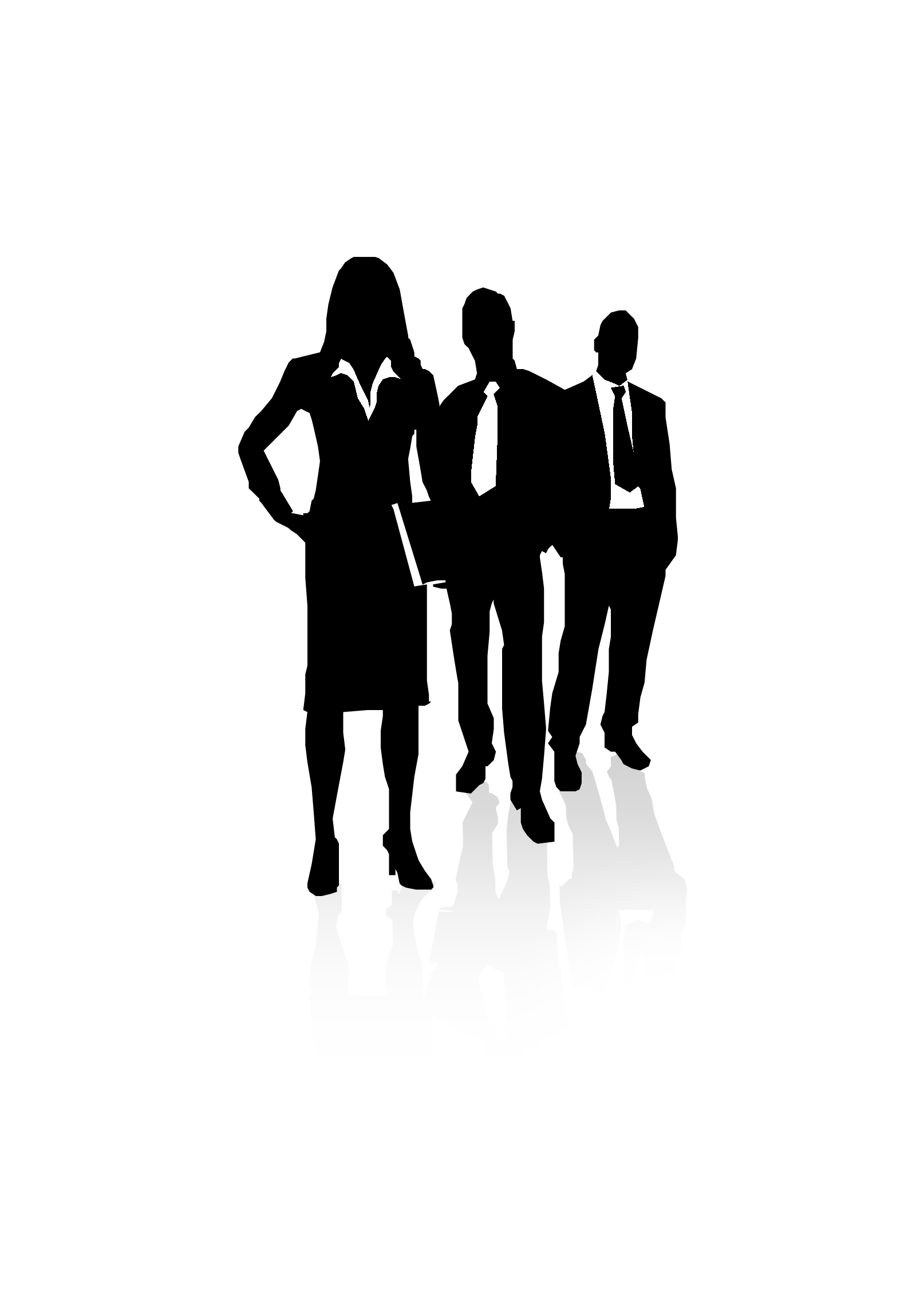 Professional clipart black and white Men Business clipart standing Businessmen
