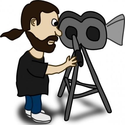 Camera clipart film shooting camera Clip Art Clipart Man Man