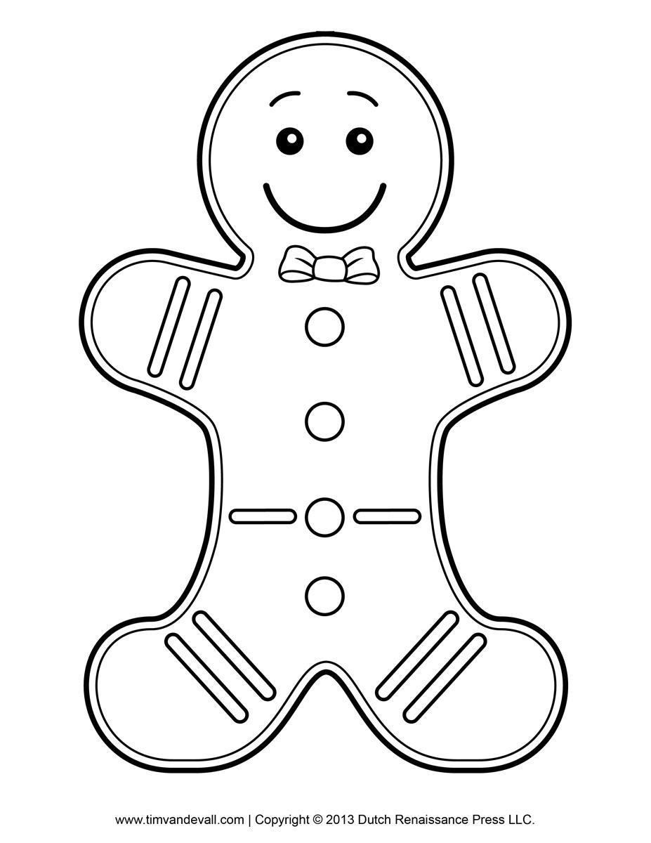 Renaissance clipart boy Kids Template Gingerbread Coloring Page