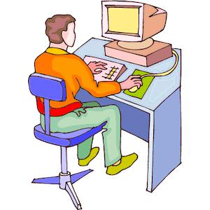 Men clipart computer Computer Man Man At 3
