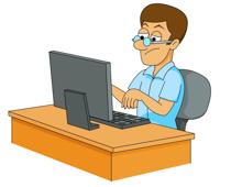 Men clipart computer Clip on 108 Illustrations man