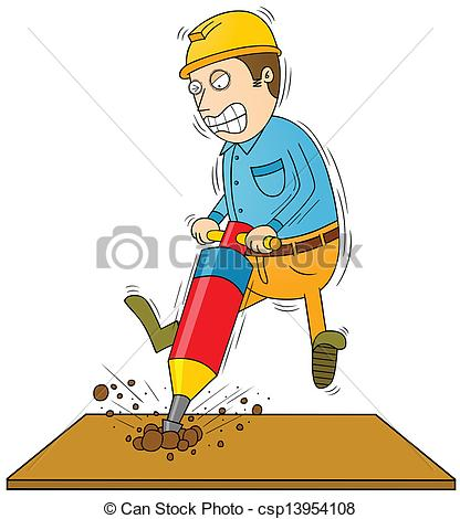 Men clipart drilling Vector man drilling man Art