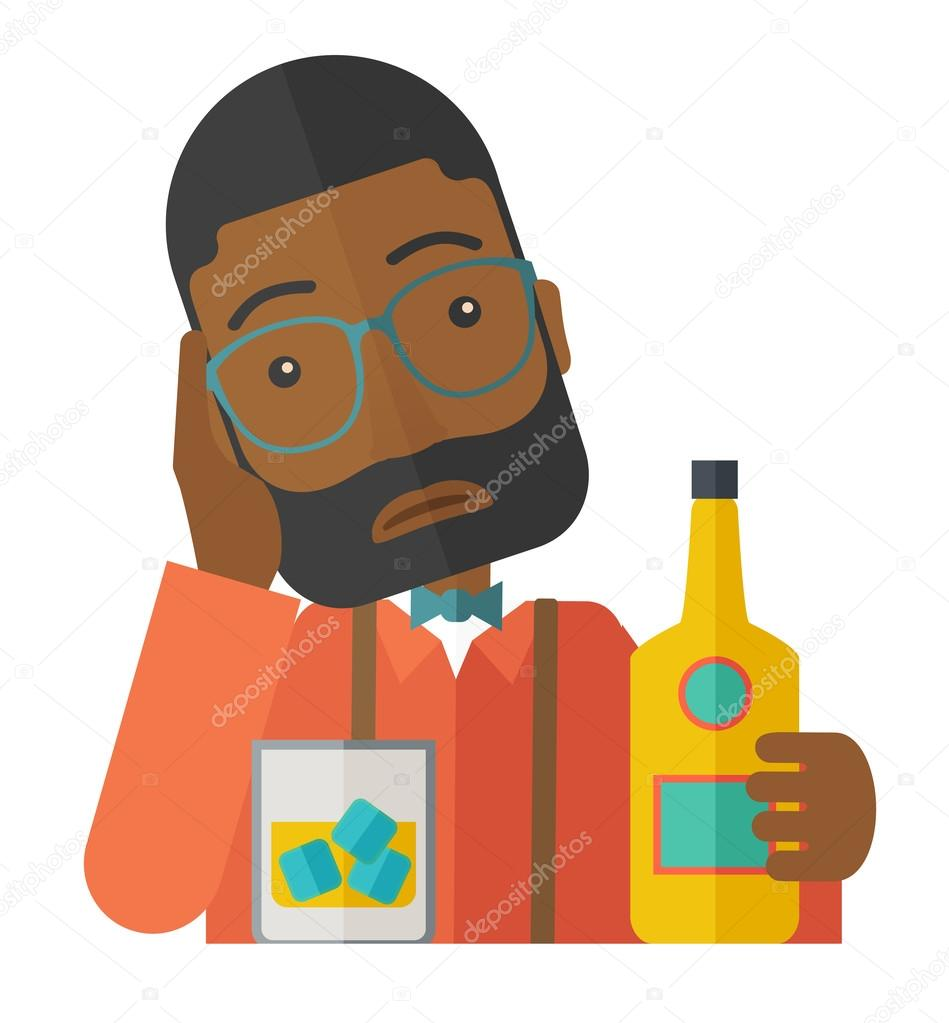 Alcohol clipart man Stock A concept beer having