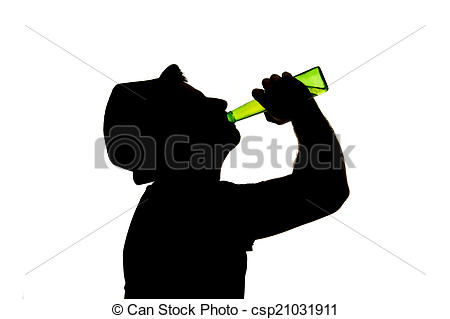 Beer clipart drinking alcohol Drinking falling of silhouette feeling