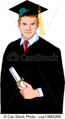 Men clipart builder Graduate Search csp13664268 Graduate Clipart