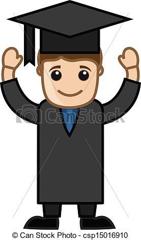 Graduation clipart person Man Day Graduate Art Clip