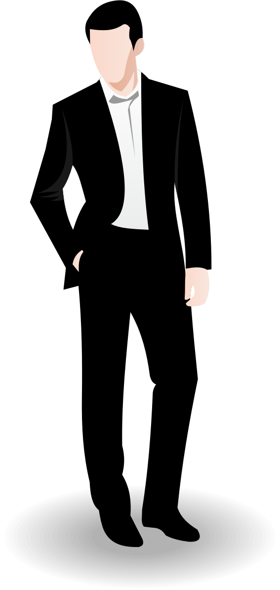 Suit clipart office man Standing clipart clip clipart free