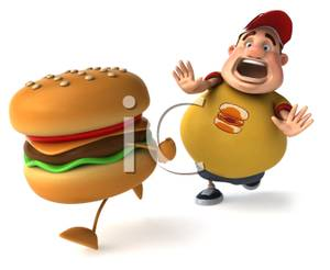 3D clipart hamburger 3d a of Free Picture