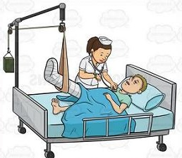 Bed clipart hospital In hospital man hospital bed