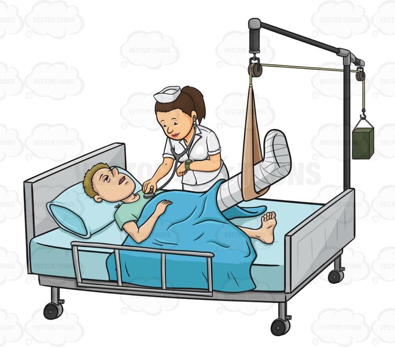 Sick clipart hospital clipart Bed His Of Sick Checks