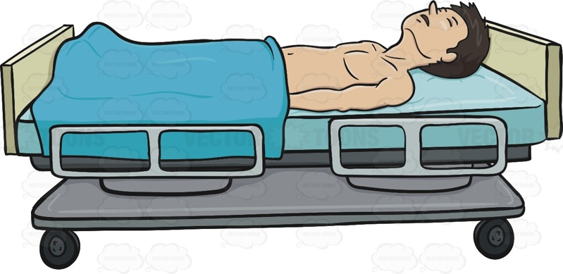 Deadth clipart animated Bed  With Covered Laying
