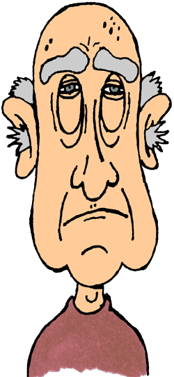 Ghostly clipart old man Man clipart clip cartoon old