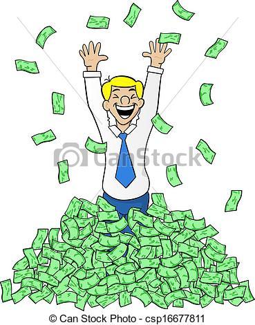 Cash clipart pile money A pile a Art with